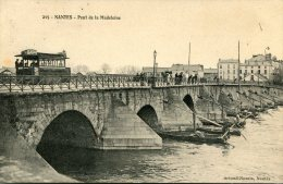 CPA  44 NANTES PONT DE LA MADELEINE - Nantes