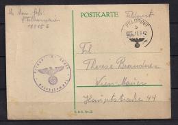 WWII ALEMANIA 1942, CORREO DE CAMPAÑA, FELDPOST Nº 00853 , A VIENA - Alemania