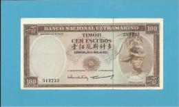 TIMOR - 100 ESCUDOS - 25.4.1963 - P 28 - DESLOCADA - UNC. - Sign. 9 - REGULO D. ALEIXO - PORTUGAL - Timor