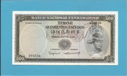 TIMOR - 500 ESCUDOS - 25.4.1963 - P 29 - Sign. 8 - REGULO D. ALEIXO - Timor