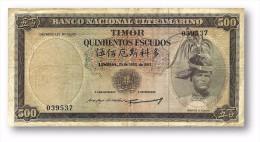 TIMOR - 500 ESCUDOS - 25.4.1963 - P 29 - Sign. 3 - REGULO D. ALEIXO - Timor