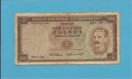 TIMOR - 100 ESCUDOS - 2.1.1959 - P 24 - SIGN. 2 - JOSÉ CELESTINO DA SILVA - Timor