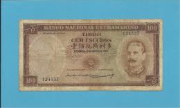 TIMOR - 100 ESCUDOS - 2.1.1959 - P 24 - SIGN. 3 - JOSÉ CELESTINO DA SILVA - Timor