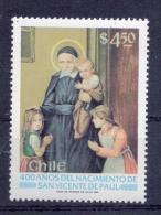 CHILE - 1981 - St. Vincent De Paul, 400th Birth Anniv - Sc 600 - VF MNH - Chile