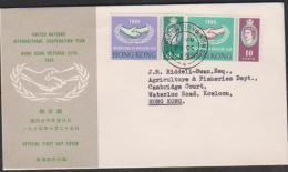 Hong Kong 1965 ICY Addressed FDC - Hong Kong (...-1997)