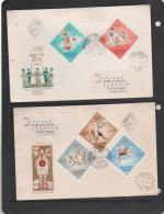 Hungary 1964 Tokyo Olympic Games Set 4 FDCs - FDC