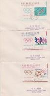 South Korea 1964 Tokyo Olympic Games Set 5 Mini Sheets FDCs - Korea, South