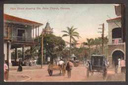 PA7) Main Street Showing Santa Anna Church - Panama - Mailed 1911 - Panama