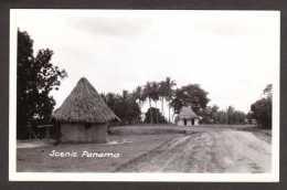 PA13) Scenic Panama - Native Huts - Real Photo Postcard - Panama