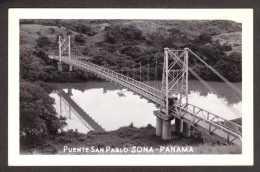 PA14) Panama - Puente San Pablo  - Canal Zone - Real Photo Postcard - Panama