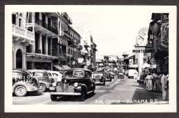 PA15) Panama City - Ave. Central - Real Photo Postcard - Panama