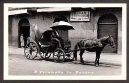 PA19) A Carametta In Panama - Horsedrawn Carriage - RPPC - Panama