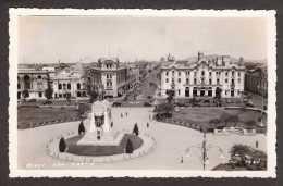 PE5) Lima - Plaza San Martin - Mailed 1938 - Real Photo Postcard - Perù