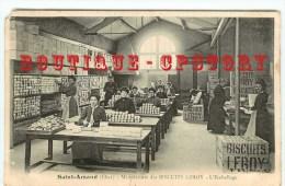 18 - SAINT AMAND MONTROND - Emballage à La Manufacture Des Biscuits Leroy - Dos Scanné - Saint-Amand-Montrond