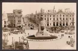 PE10) Lima - Plaza San Martin - 1935 - Real Photo Postcard - Perù
