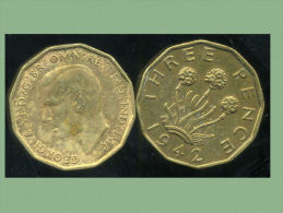 GRANDE BRETAGNE ( Royaume Uni )   Three Pence  1942 - 1902-1971 : Monnaies Post-Victoriennes