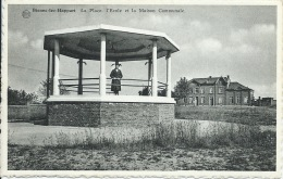 Bienne-lez-Happart - La Place , L´Ecole Et La Maison Communale ( Voir Verso ) - Lobbes