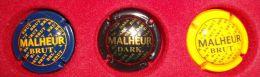 3 CAPSULES DE BIERE MALHEUR - Noir - Bleu Et Jaune - Birra