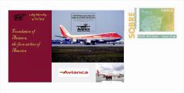 Spain 2013 - Ephemeris - 5 December 1919 - Foundation Of Avianca - First Airline Of America Special Cover - Airplanes