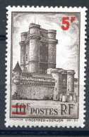 1 Timbre De France Neuf * Charnière- Donjon De Vincennes -n° 491- 5F Sur 10F Brun/azuré- - 1941 - Frankrijk