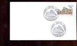 Enveloppe Premier Jour 1er Fdc Fabriquée 16X9 Solutré 1985 Solutré Pouilly - 1980-1989