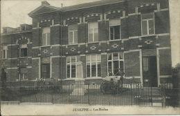 Jeneffe - Les Ecoles et � le Monument et deux canons - 1920  ( voir verso )