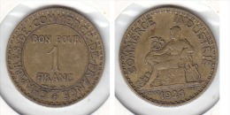 1 FRANC Alu Bronze 1923 - Francia