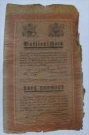 Tract Américain Encourageant Les Allemands à Déserter Avec Sauf Conduit Tirés Par Obus En 1945 - Documents