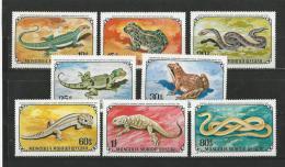 Mongolie: 630/ 637 **  Serpents - Non Classificati