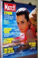 PUBLICITE AFFICHE PRESSE N°1970 DU 27 02 1987 PARIS MATCH 60cmX78cm STEPHANIE MARIO MONACO SPAGGIARI PRIEUR TURENGE ATOL - Manifesti