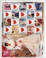 POUPEE BARBIE 50ème ANNIVERSAIRE BLOC 20 TIMBRES TAÏLANDE COEUR - Dolls