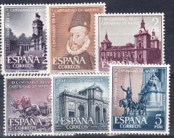 ESPAÑA 1961. EDIFIL Nº 1388/1393.CAPITALIDAD DE MADRID  . NUEVO SIN CHARNELA. SES 584 - 1931-Hoy: 2ª República - ... Juan Carlos I