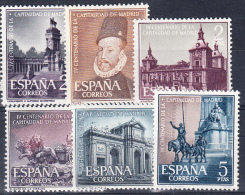 ESPAÑA 1961. EDIFIL Nº 1388/1393.CAPITALIDAD DE MADRID  . NUEVO SIN CHARNELA. SES 584 - 1961-70 Nuevos & Fijasellos