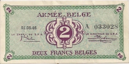 ARMEE BELGE - BELGISCH LEGER - Occupation Belge De L´Allemagne 2e Guerre Mondiale 2 FRANCS (01.08.46) - 1-2 Francs