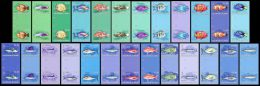 IMPERF. Solomon Isl. 2013 - Fishes, Definitives. Gutter Pairs - YT 1839-63, Mi 2107-31 - Isole Salomone (1978-...)