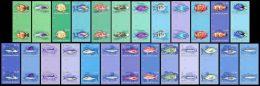 IMPERF. Solomon Isl. 2013 - Fishes, Definitives. Gutter Pairs - YT 1839-63, Mi 2107-31 - Vissen