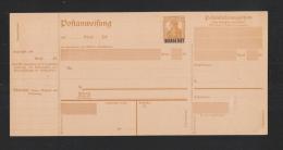 Saar Postanweisung 25 Pfennig Type I Ungebraucht - Germania
