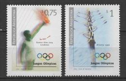 Argentina (1996) Yv. 1932/33  /   Olympic Games - Atlanta - Rowing - Torch - Summer 1996: Atlanta