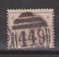 Engeland United Kingdom, Great Britain, Angleterre, Queen Victoria, MICHEL 75 SG 190, Y&T 79 Nice Cancel 449 - 1840-1901 (Victoria)