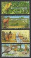 Argentina (1996) Yv. 1940/43  /  National Parks - Fauna - Biodiversity - Birds - Parrot - Deer - Rabbit - Pawn - Briefmarken