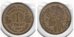 1 FRANCS Alu Bronze MORLON 1934 - Francia