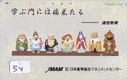 Télécarte Japon / 110-154 * Religion *  7 Dieux Du Bonheur (54) Luck Gods * Japan Phonecard * Telefonkarte - Werbung