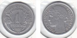 1 FRANC Alu MORLON 1957 B - France