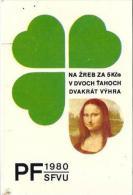 Czech Rep. - Lotto - Mona Lisa - Tamaño Pequeño : 1971-80