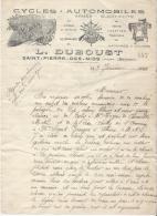Cycles / Automobiles/ L. Duboust / SAINT PIERRE DES NIDS/ Mayenne / 1934  FACT42 - Cars