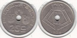 25 CENTIMES Léopold III 1938 FR/FL - 1934-1945: Leopold III