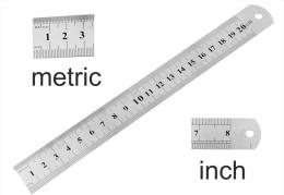 Pinus Lineal 20 Cm / 8 Zoll(inch) - Edelstahl - Blendfreie Oberfläche [PS06] - Briefmarken