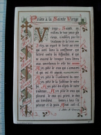 Chromo Image Religieuse Priere A La Sainte Vierge - Andachtsbilder