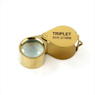 Pinus Lupe Gold - 30x21 Mm - Super Qualität - Ideal Für Unterwegs [PS04] - Pinzetten, Lupen, Mikroskope
