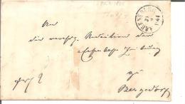 Sch005/ Wulfsdorf-Ahrenzburg 1864 Via Dt. P.A. Hamburg Nach Bergedorf (gehörte  Bis 1867 Zu Hamburg) - Schleswig-Holstein